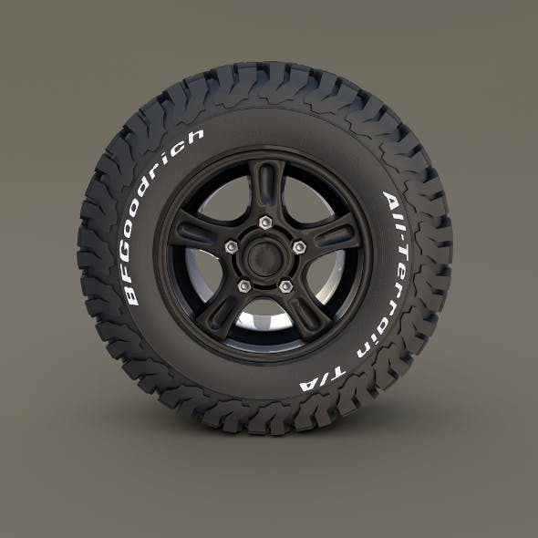 Offroad Alloy Wheel AT - 3DOcean Item for Sale
