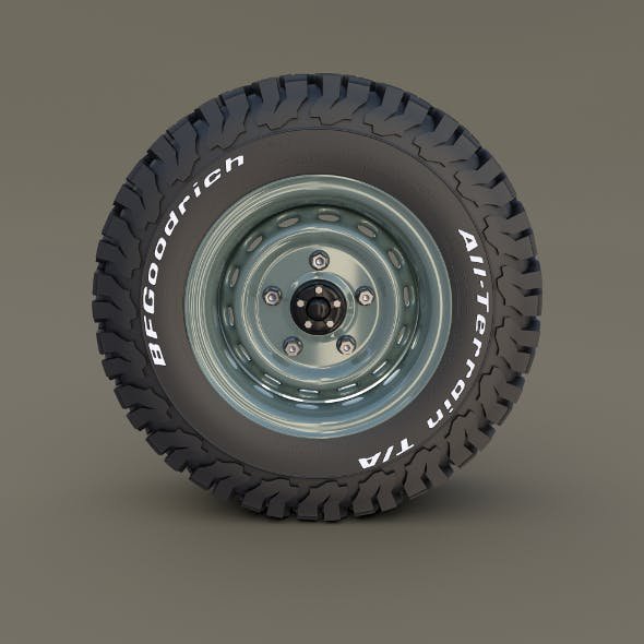 Offroad Steel Wheel AT - 3DOcean Item for Sale