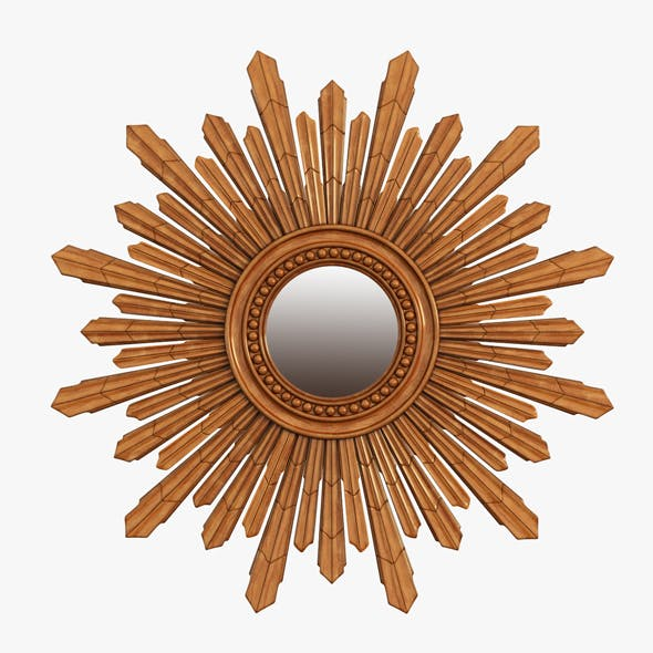 Mirror New Solar Gold - 3DOcean Item for Sale