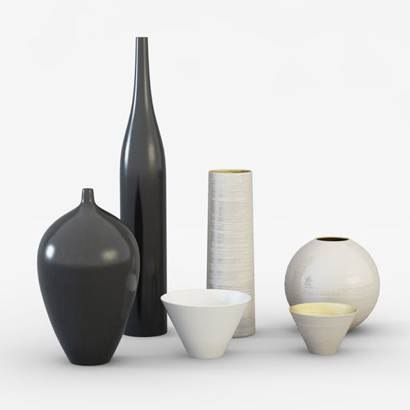 Ornamental vases - 3DOcean Item for Sale