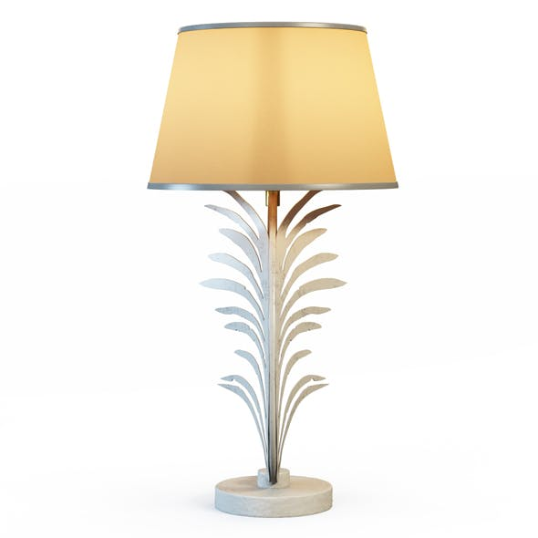 Palm Frond Table Lamps