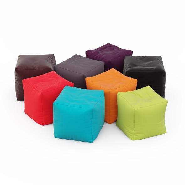Pouf Coussin Jumbo Bag Cube - 3DOcean Item for Sale