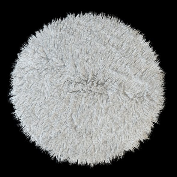 Round rug Flokati - 3DOcean Item for Sale