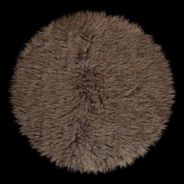 Round rug Flokati