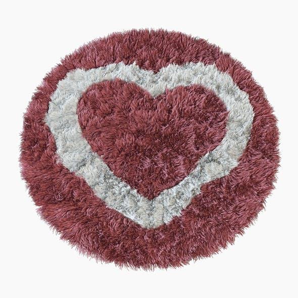Round rug heart