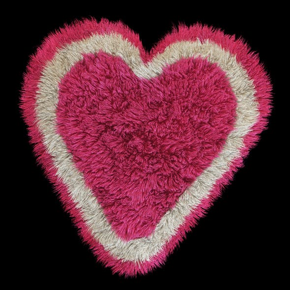 Rug heart - 3DOcean Item for Sale
