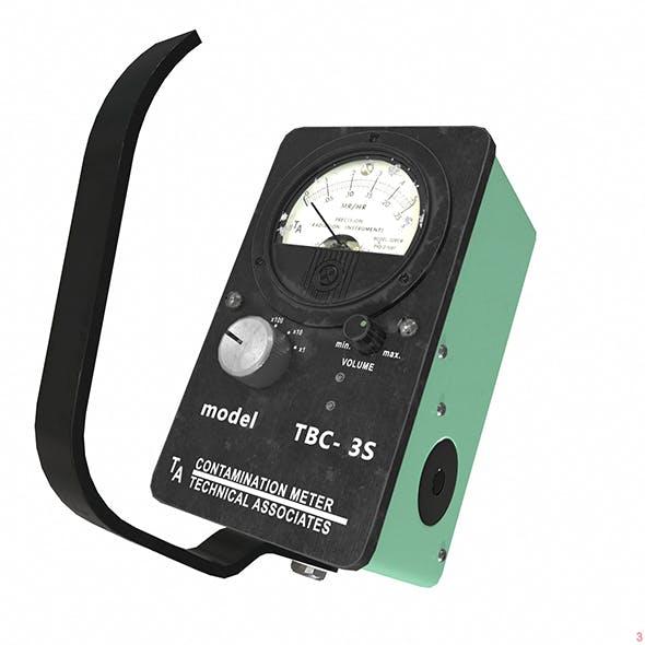 Dosimeter Geiger low poly 3D model - 3DOcean Item for Sale
