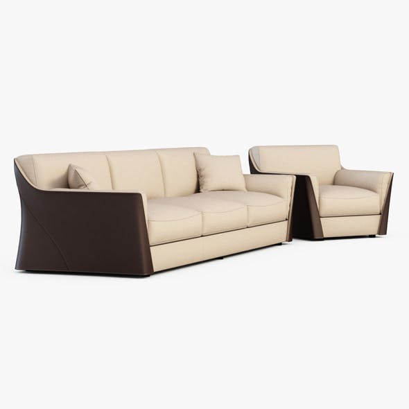 Sofa and armchair Vittoria - 3DOcean Item for Sale
