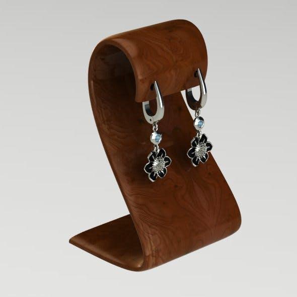 Flowers earring - 3DOcean Item for Sale