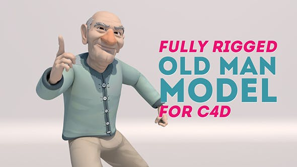 Stylized Old Man Character - Fully Rigged - 3DOcean Item for Sale