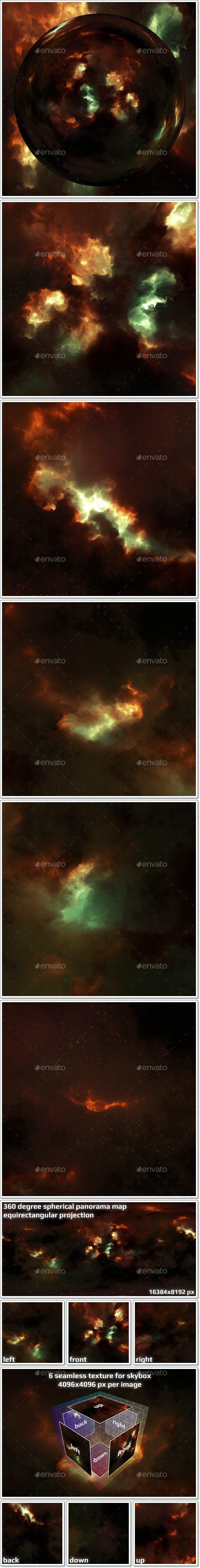 Nebula Space Environment HDRI Map 017 - 3DOcean Item for Sale