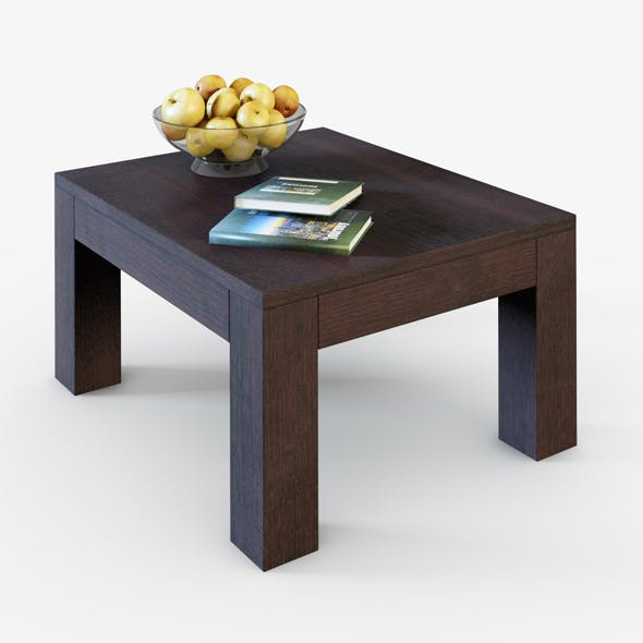Table with apples and books - 3DOcean Item for Sale