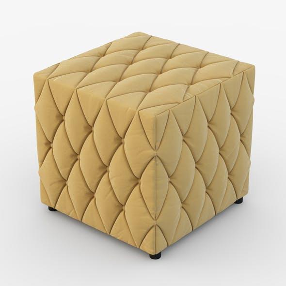 Velvet pouf - 3DOcean Item for Sale