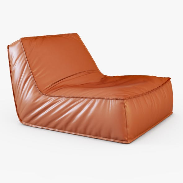 Zoe low lounge chair - 3DOcean Item for Sale