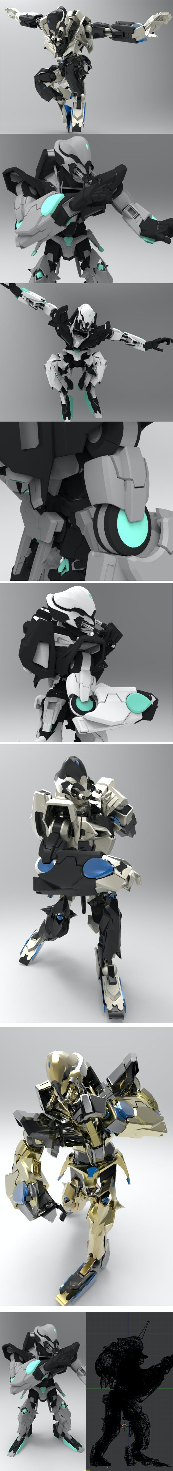 Sci-fi Humanoid Robot 3D model - 3DOcean Item for Sale