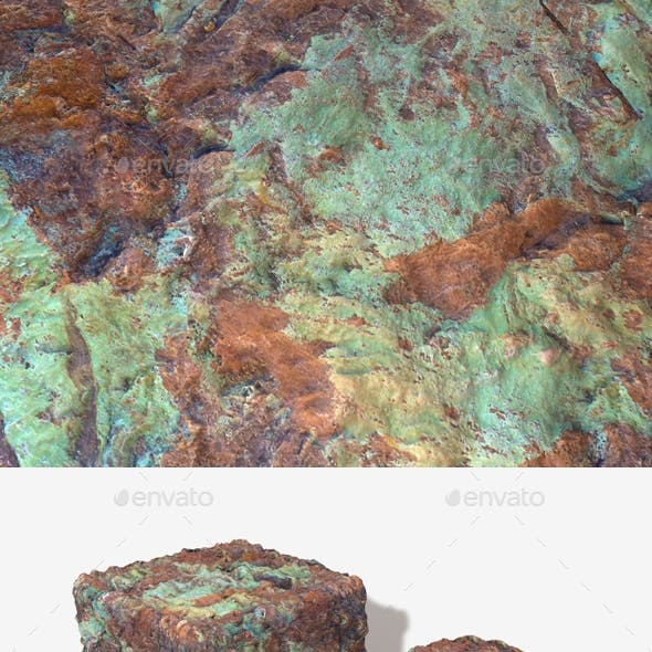 Painted Desert Green Rock Seamless Texture 2