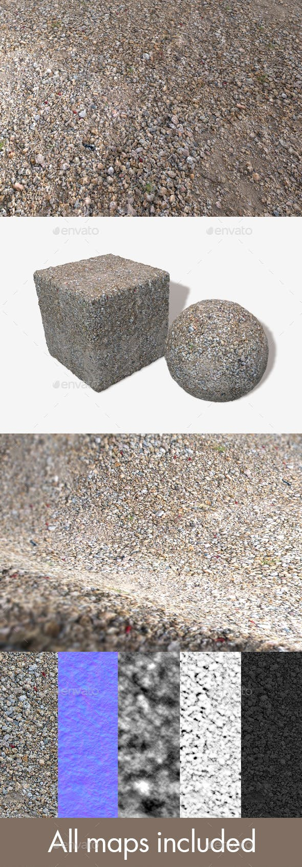 Stoney Ground Seamless Texture - 3DOcean Item for Sale