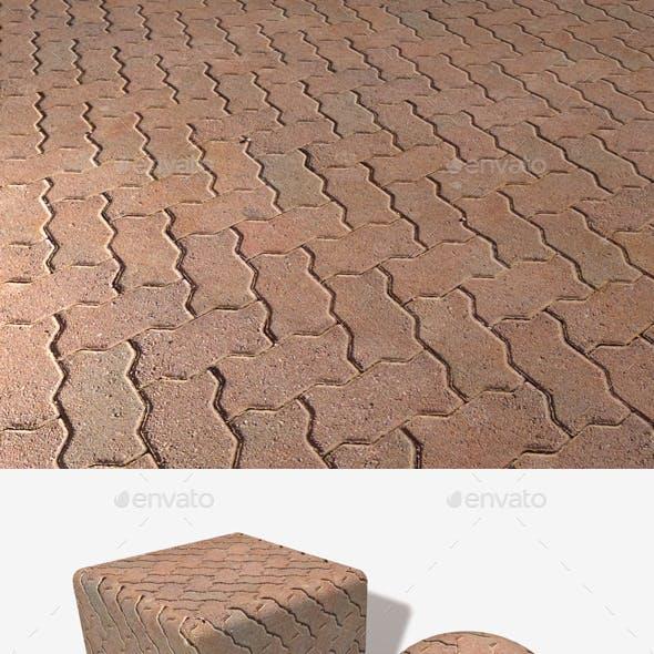 Zig Zag Paving Bricks Seamless Texture