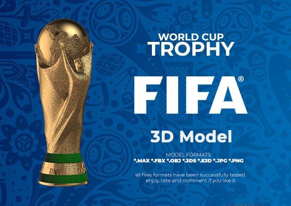 FIFA World Cup Trophy 3D Model - 3DOcean Item for Sale