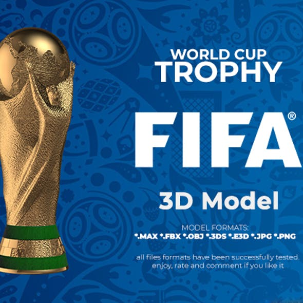 FIFA World Cup Trophy 3D Model