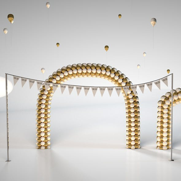 Party Balloon Arch - Party Decorations - 3DOcean Item for Sale