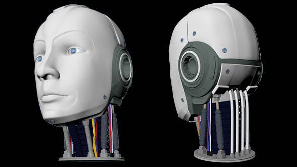 Human Robot Male Head High Poly - 3DOcean Item for Sale