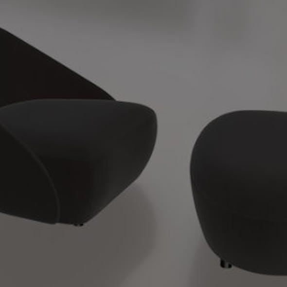 Pierre Chair & Ottoman