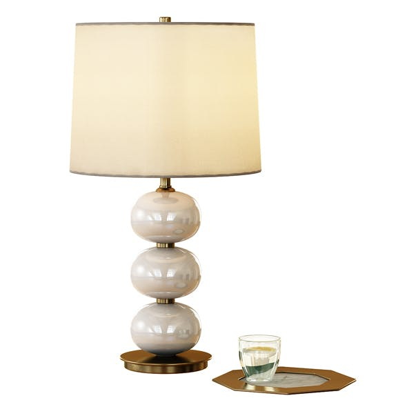 Abacus Table Lamp - Milk White - 3DOcean Item for Sale