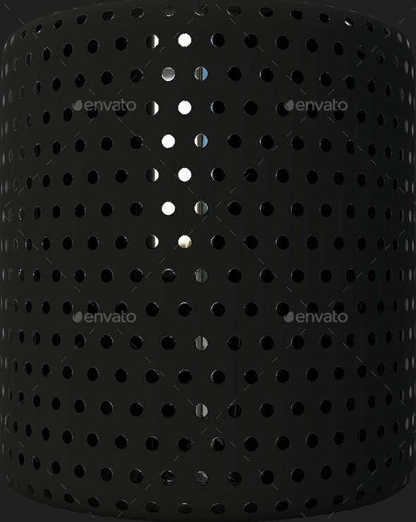 Black Texture With Reflective Dots - 3DOcean Item for Sale