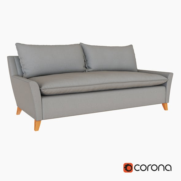 Bliss Down Filled Sofa - 3DOcean Item for Sale