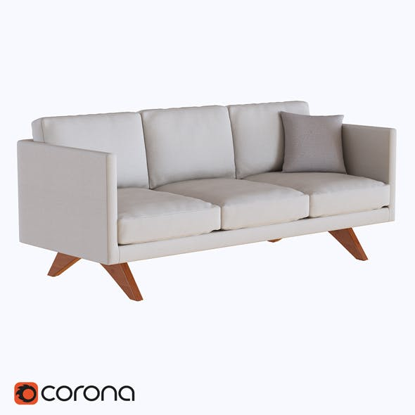 Brooklyn Upholstered Sofa - 3DOcean Item for Sale