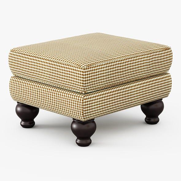 Charlotte II Ottoman - 3DOcean Item for Sale