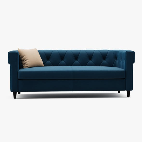 Chester Tufted Upholstered Sofa - 3DOcean Item for Sale
