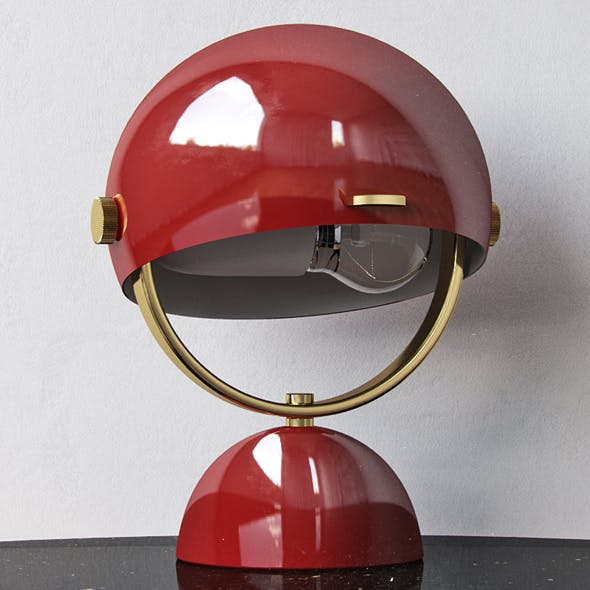 Clint Mini Task Lamp Red