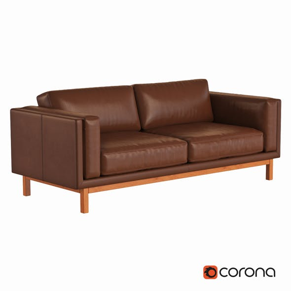 Dekalb Leather Sofa - 3DOcean Item for Sale