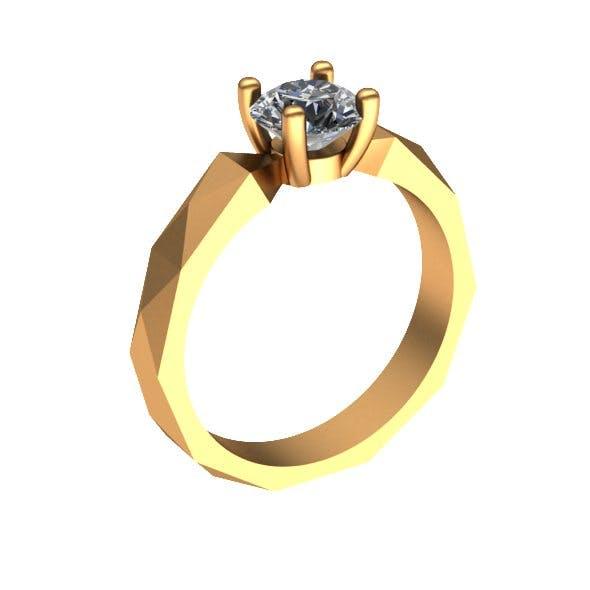 Geometry diamond ring - 3DOcean Item for Sale