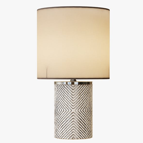 Etched Glass Table Lamp - 3DOcean Item for Sale
