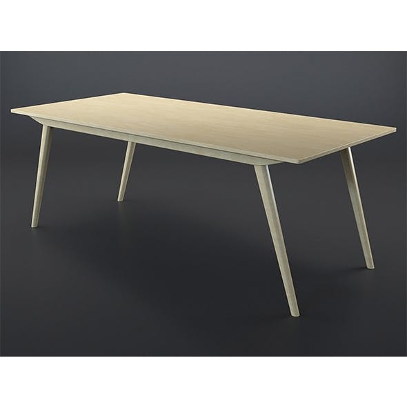 Aveiro oak table - 3DOcean Item for Sale