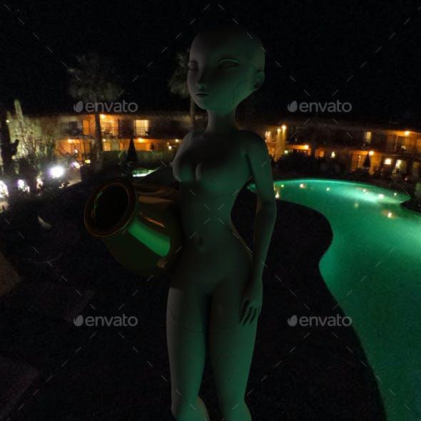 Midnight Outdoor Pool HDRI