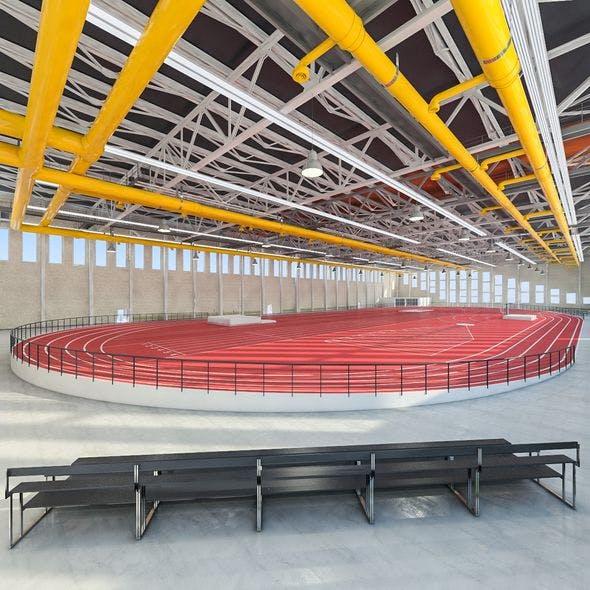 Gym Athletics Indoor Interior - 3DOcean Item for Sale