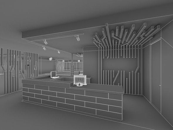 Gym Fitness Center Interiorr - 3DOcean Item for Sale