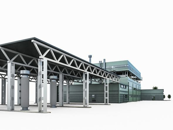 Industrial Building 02 - 3DOcean Item for Sale
