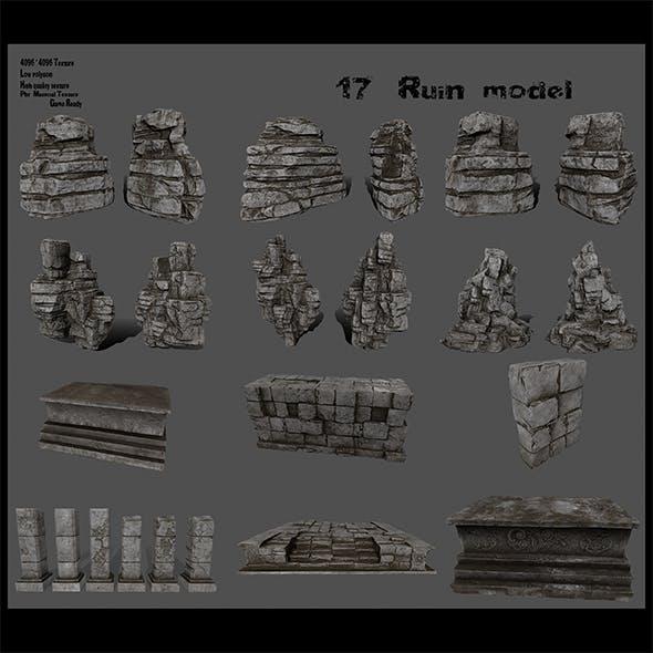 ruin set - 3DOcean Item for Sale