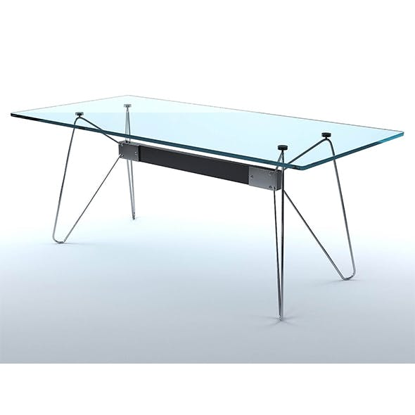 Glass tables (dining room table and coffee table) - 3DOcean Item for Sale