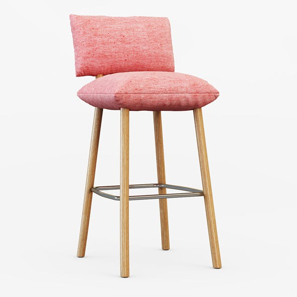 Pillow Barstool A - 3DOcean Item for Sale