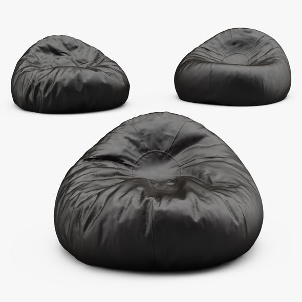 Grand Leather Bean Bag Chair - 3DOcean Item for Sale
