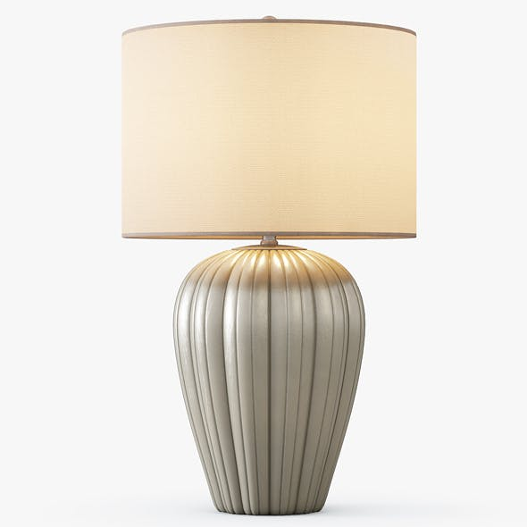 Gray Brown Ceramic Table Lamp - 3DOcean Item for Sale