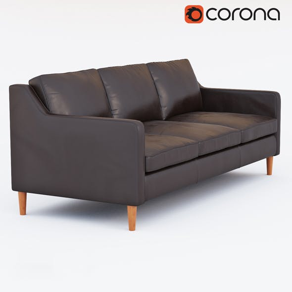 Hamilton Leather Sofa - 3DOcean Item for Sale