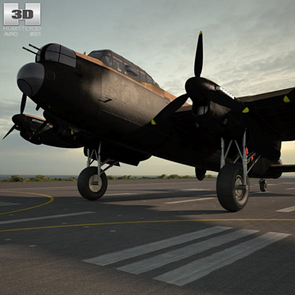 Avro Lancaster - 3DOcean Item for Sale