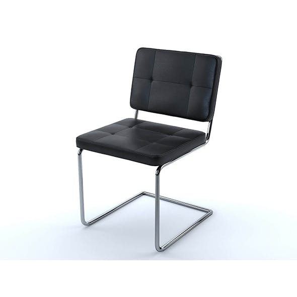 Aston chair black leather - 3DOcean Item for Sale